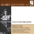 Brahms: Symphony No.3, No.4, Paganini Variations Books I and II, 6 Hungarina Dances WoO.1, etc