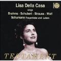 Lisa Della Casa sings Brahms, Schubert, etc