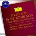 Beethoven: Symphony No.9 Op.125, Coriolan Overture Op.62 / Herbert von Karajan(cond), BPO, Gundula Janowitz(S), etc