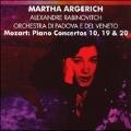 Mozart: Piano Concertos No.10 K.365, No.19 K.459, No.20 K.466 / Martha Argerich(p), Jorg Faerber(cond), Wurttemberg Chamber Orchestra, etc