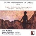 CONTEMPORARY VOICE IN ITALY VOL.1:CORGHI :RICORDANDO TE LONTANO/DALLAPICCOLA:TRE POEMI/GUACCERO:TRE LIRICHE DI MONTALE/ETC:DUO ALTERNO