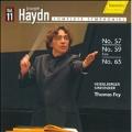 Haydn: Symphony No.57 (3/15, 16/2008), No.59 (1/16, 17/2008), No.65 / Thomas Fey(cond), Heidelberg Symphony Orchestra