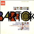Bartok: Piano Concerto No.1-3, Violin Concerto No.1 & No.2 (1990-1992) / Peter Donohoe(p), Simon Ratlle(cond), City of Birmingham Symphony Orchestra, Dmitri Sitkovetsky(vn), Libor Pesek(cond), Philharmonia Orchestra