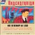 Khachaturian: Ode in Memory of Lenin, etc / Tjeknavorian