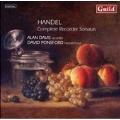 HANDEL:COMPLETE RECORDER SONATAS:ALAN DAVIS(bfl)/DAVID PONSFORD(cemb)
