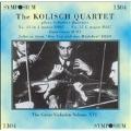 The Kolisch Quartet Plays Schubert Quartets