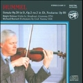 Hummel: Works for Violin & Piano / Ralph Holmes(vn), Richard Burnett(fp)
