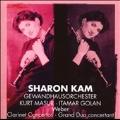 Weber: Clarinet Concerto No.1, No.2, Grand Duo / Sharon Kam(cl), Kurt Masur(cond), Leipzig Gewandhaus Orchestra, Itamar Goran(p)
