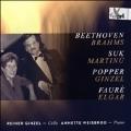 Beethoven, Brahms, Suk, Martinu, Popper, Ginzel, Faure, Elgar: Cello Works