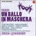 Verdi: Un Ballo In Maschera / Erich Leinsdorf, RCA Italiana Opera Orchestra and Chorus, Leontyne Price, Carlo Bergonzi, etc