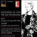 J.S.Bach: Violin Concerto No.2 BWV.1042, Partita for Violin Solo No.2 BWV.1004; Mozart: Violin Concerto No.3 K.216 (1947-59) / Gioconda de Vito(vn), Rafael Kubelik(cond), LSO, RPO