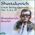 Shostakovich: Great String Quartets No.4, No.8 & No.10