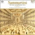 G.B.Sammartini : The Late Symphonies Vol.1 -J-C.63, J-C.22, J-C.31, J-C.60, Quintet No.5  / Alessandra Rossi Lurig(cond), Accademia d'Arcadia