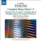 アルド・オルヴィエート/Camillo Togni: Complete Piano Music Vol.3 [8573430]