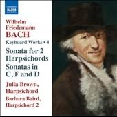 ジュリア・ブラウン/W.F.Bach: Keyboard Works Vol.4[8573027]