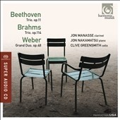 Jon Manasse/Beethoven: Piano Trio Op.11; Brahms: Clarinet Trio Op.114; Weber: Grand Duo Concertant Op.48 [HMU807618]