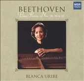 Blanca Uribe/Beethoven: Piano Sonatas, Op. 101, 109, 111 / Blanca Uribe [MS1117]