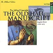 The Old Hall Manuscript / Hilliard Ensemble