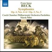 マレク・シュティレツ/Franz Ignaz Beck: Symphonies Op.4 No.4-No.6, Op.3 No.5[8573249]
