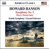 ジェラード・シュワルツ/H.Hanson: Symphony No.3 Op.33, Merry Mount Suite Op.31[8559702]