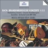 ラインハルト・ゲーベル/Bach: Brandenburg Concertos Nos. 1-3; Orchestral Suite No 1[4472872]