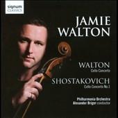 ジェイミー・ウォルトン/W.ウォルトン: チェロ協奏曲、ショスタコーヴィチ: チェロ協奏曲第1番[SIGCD220]