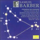 Barber: Adagio for Strings, School for Scandal, etc