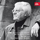 ヨゼフ・スーク (Violin/Conductor)/Dvorak: Miniatures Op.75a B 149, Bagatelles Op.47 B 79, Terzetto in C major Op.74 B 148; Josef Suk: Piano Quartet in A minor Op.1 (10/27 - 4/11/2008) / Josef Suk(vn), Miroslav Ambros(vn), Karel Untermuller(va
