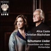 アリス・クート/Schumann Lieder - Frauenliebe und -Leben, Dichterliebe[WHLIVE0079]