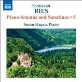 スーザン・カガン/F.Ries: Piano Sonatas and Sonatinas Vol.5[8572300]
