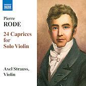 アクセル・シュトラウス/ローデ:練習曲の形式による24のカプリース[8570958]