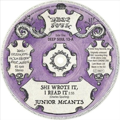She Wrote It I Read It/Fall in These Arms of Mine 7inch Single