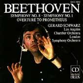 Beethoven: Symphonies 1 & 8, etc / Schwarz, Los Angeles CO