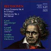 Beethoven: Piano Concerto no 4, Symphony no 5 / Schwarz