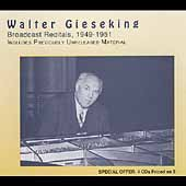 Merit - Walter Gieseking Broadcast Recitals 1949-1951