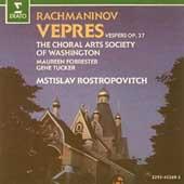 Rachmaninov: Vespers / Rostropovich, Choral Arts Society
