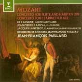 Mozart: Concerto for Flute & Harp K.299, Clarinet Concerto K.622 (6/1963) / Jean-Pierre Rampal(fl), Lily Laskine(hrp), Jean-Francois Paillard(cond), Paillard Chamber Orchestra