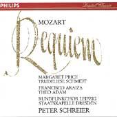 Mozart: Requiem / Schreier, Price, Schmidt, Araiza, Adam