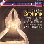 Mozart: Requiem / Marriner, Cotrubas, Watts, Tear, et al