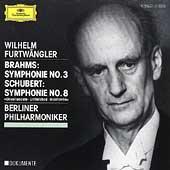 Brahms: Symphonie no 3; Schubert: Symphonie no 8/Furtwangler