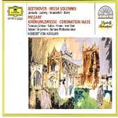 Beethoven: Missa Solemnis; Mozart: Coronation Mass / Karajan