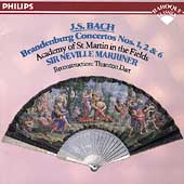 Bach: Brandenburg Concertos 1, 2 & 6 / Marriner, ASMF