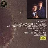 Mozart: Violin Concertos nos 3 & 4, etc / Perlman, Levine