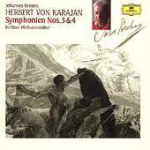 Brahms: Symphonies nos 3 & 4 / Karajan, Berlin PO
