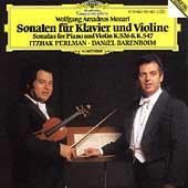 Mozart: Violin Sonatas K 526 & K 547 / Perlman, Barenboim