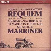 Mozart: Requiem / Marriner, McNair, Watkinson, Araiza, Lloyd
