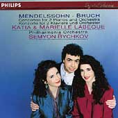 Mendelssohn, Bruch: Concertos for Two Pianos / The Labeques