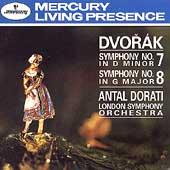 Dvorak: Symphonies no 7 & 8 / Dorati, London SO