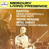 Bartok: Violin Concerto no 2, etc / Menuhin, Dorati