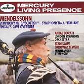 Mendelssohn: Symphonies 3 & 4, etc / Dorati, Skrowaczewski